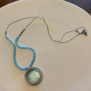 Origami owl large twist locket and chain